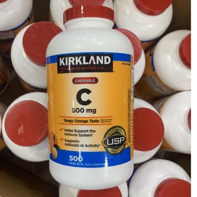 Kẹo nhai vitamin C Kirkland 500mg hộp 500 viên