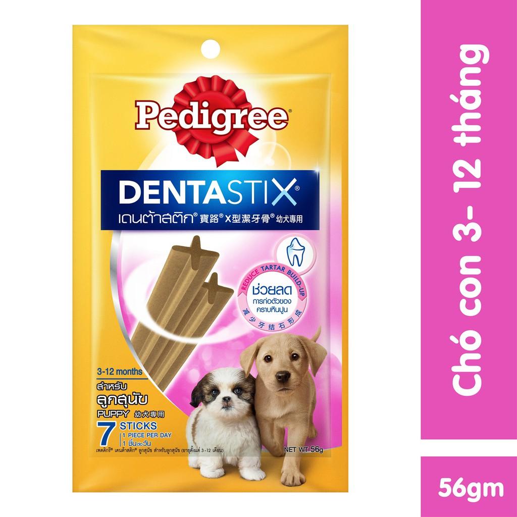 Bánh xương cho chó con Pedigree Dentastix 56g