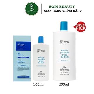 Kem Chống Nắng  Make Prem UV Defense Me. Blue Ray Sun Fluid SPF 50+ PA++++ Dạng Sữa (makeprem)