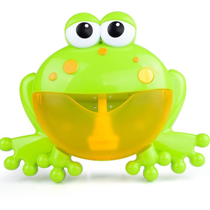Máy tạo bọt thổi bong bóng hình con ếch đáng yêu – có nhạc cho bé
