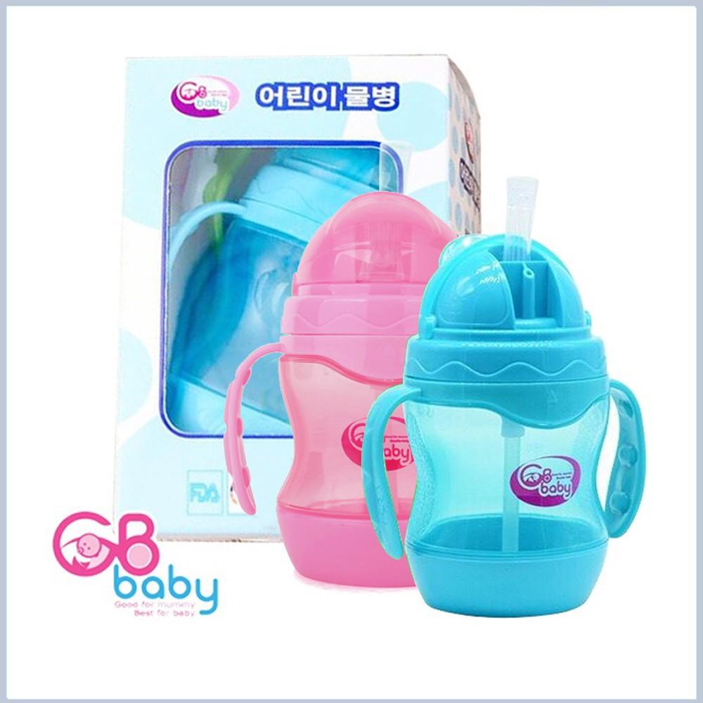 Bình Đựng Nước Tập Uông Nước GB Baby Có Tay Cầm- Ống Hút An toàn sạch sẽ cực rẻ