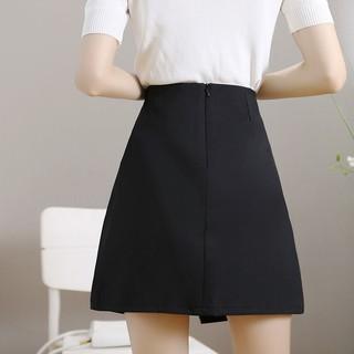 Chân Váy Chữ A Lưng Cao Xếp Ly Màu Đen Thời Trang Trẻ Trung
