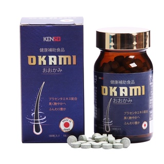 Viên uống giảm rụng và mọc tóc Okami Hộp 180 viên thumbnail
