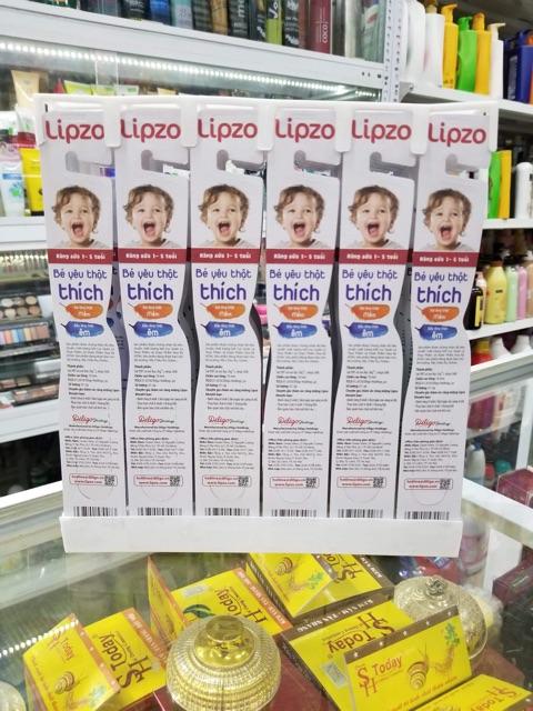 Bàn chải đánh răng cho bé Lipzo Crystal Kids 1-5 tuổi
