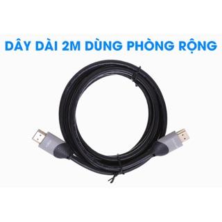Cáp HDMI 2.0 Tròn 2.0m eVALU DS201-WB