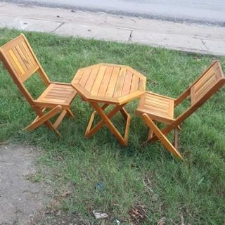 Bộ ghế gỗ NGỒI BAN CÔNG(1 bàn + 2 ghế) MỚI 100%