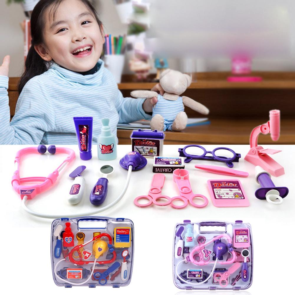 Toys Funny Plastic Tool Set Simulation Medicine Box Pretend Play Doctor Medical Kit Gift Educational Kids