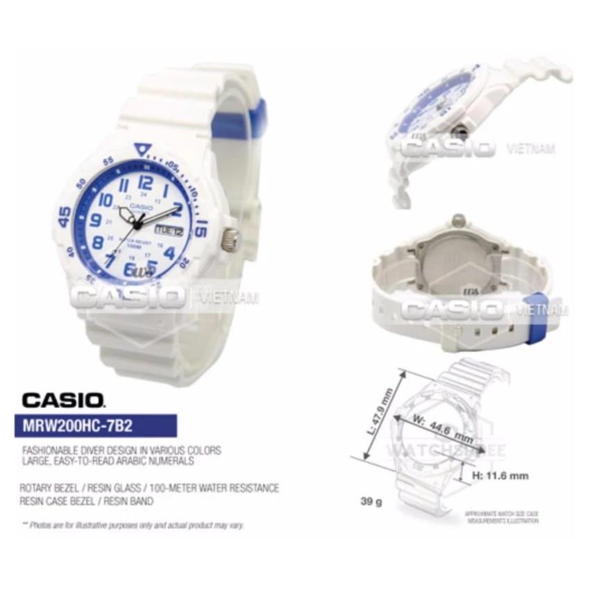 Đồng hồ nam dây nhựa Casio chính hãng Anh Khuê MRW-200HC-7B2VDF