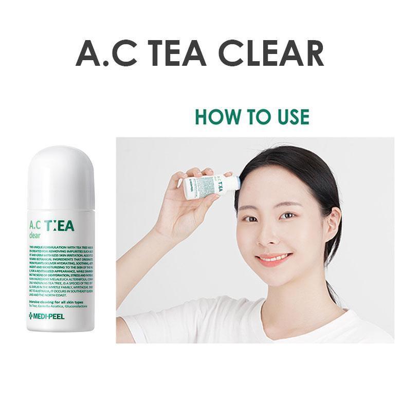 Thanh Lăn Giúp Giảm Viêm, Mụn Trứng Cá Và Các Vết Ban Hiệu Quả Medi Peel A.C Tea Clear 50ml giá rẻ