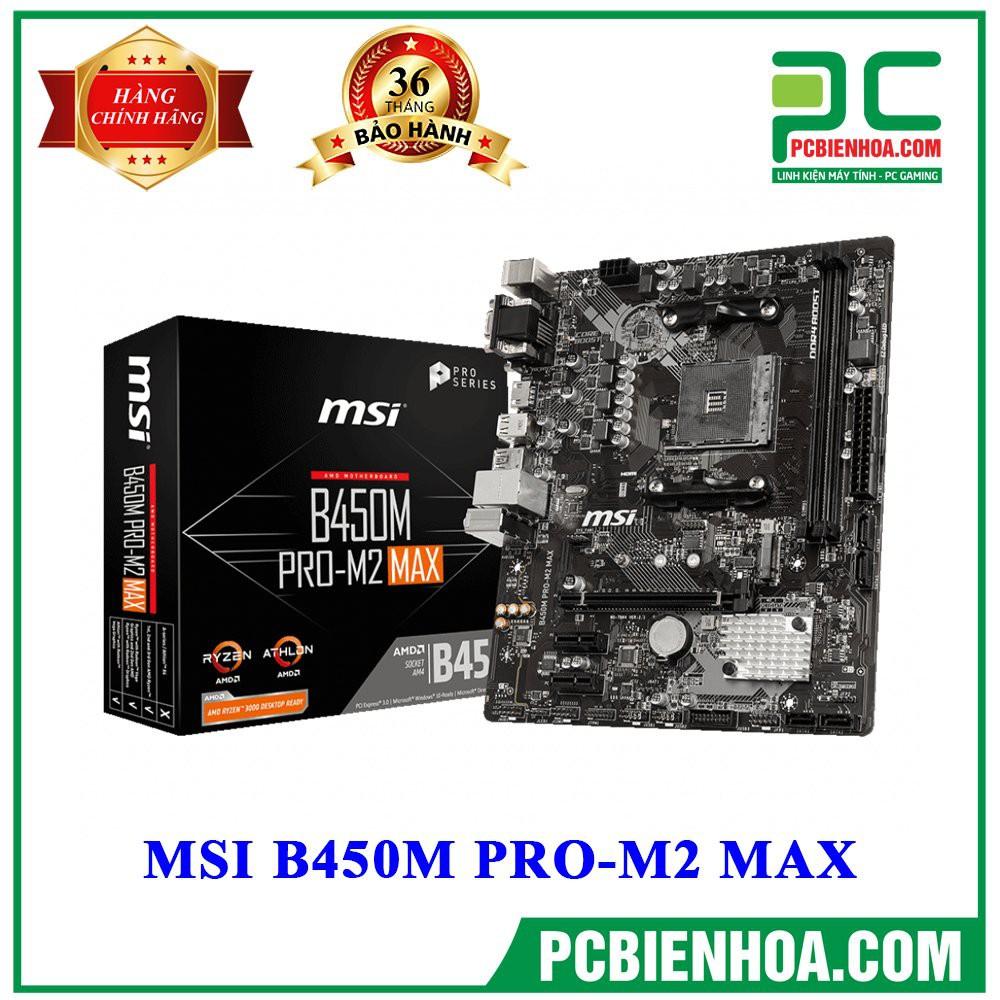 Bo mạch chủ MSI B450M PRO-M2 MAX