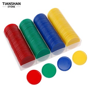 160Pcs/Set 4 Color Round Chips Counting Numbers Teaching Aids Game Party Props