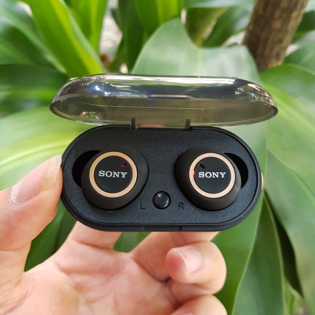 ( Nghe Không Hay Hoàn Tiền 100% )Tai nghe Bluetooth Đen Sony sport TWS-D76 Rất ấm Bass-treble rõ ràng