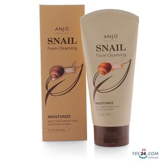 Sữa rửa mặt dưỡng ẩm từ ốc sên ANJO SNAIL FOAM CLEANSING 150ML thumbnail