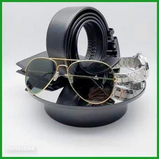 [COMBO 4 MÓN] Đồng hồ nam Sandas tặng ví da ,kính mắt thời trang chống UV 400 Dây lưng