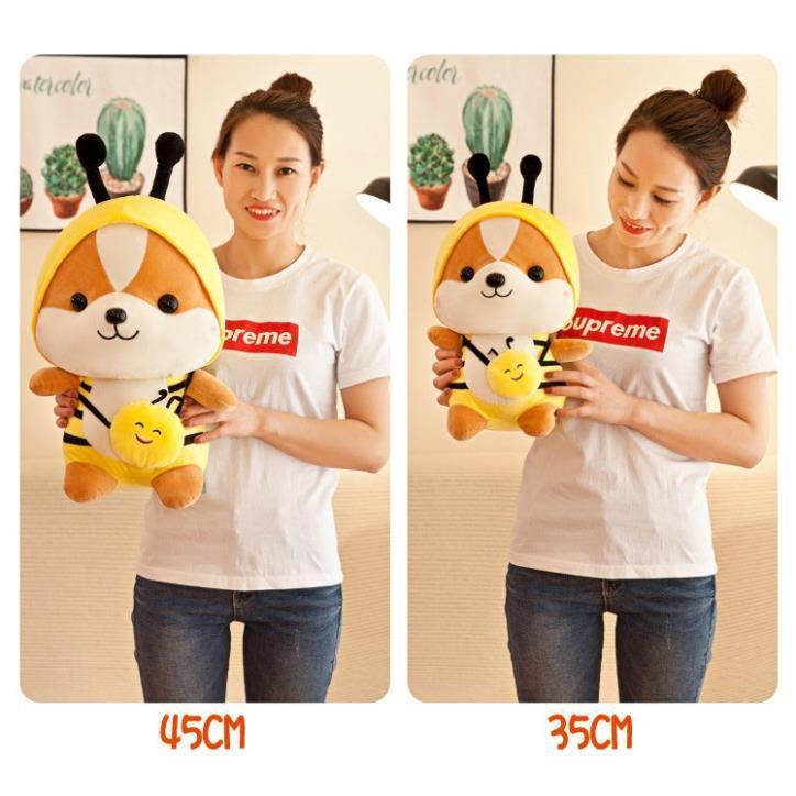 [RẺ VÔ ĐỊCH] Gấu Bông Chó Shiba Cosplay mềm mịn size nhỏ 25 cm. Gấu bông shiba Cosplay siêu chất