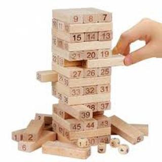 [ Giá gốc] Bộ đồ chơi rút gỗ 54 thanh mini 2019