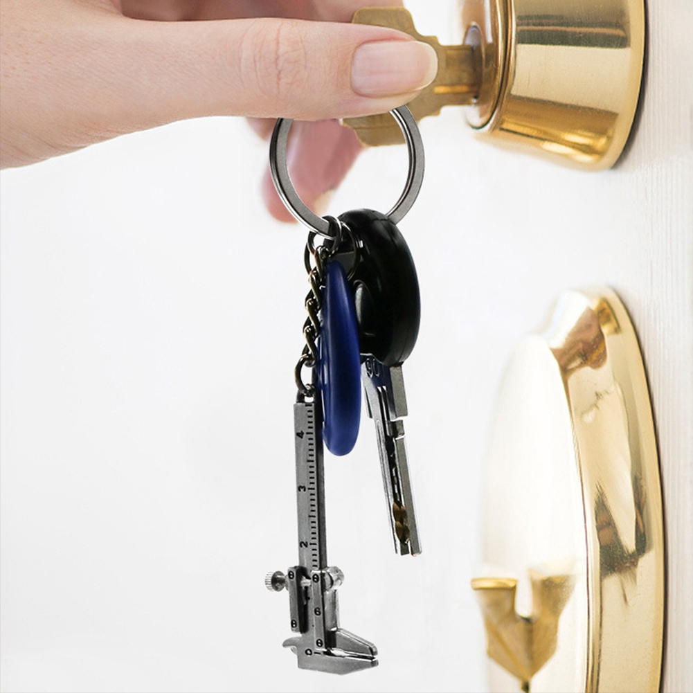 Cute Mini Accessories Measure Pocket Tool Portable Gift Durable Zinc Alloy Keychain