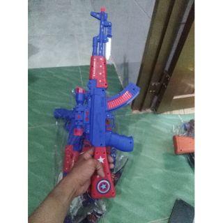 Đồ chơi súng dùng pin mẫu captain american số 2