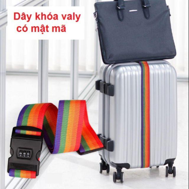 Dây khóa vali có mật mã