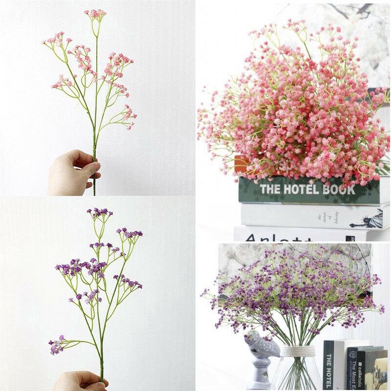 Bó hoa giả 5 màu sắc tùy chọn dùng trang trí tiệc cưới tiện dụng