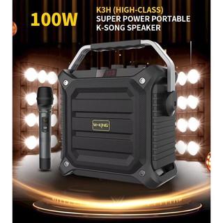 Loa di động Karaoke W-King K3H 100W tặng kèm 1 mic - BH 12 tháng