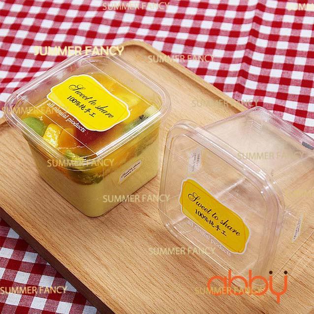HỘP NHỰA PET VUÔNG 9.5×9.5×7.5CM B10-8 moon cake trays moon cake packaging boxes plastic bottom tran
