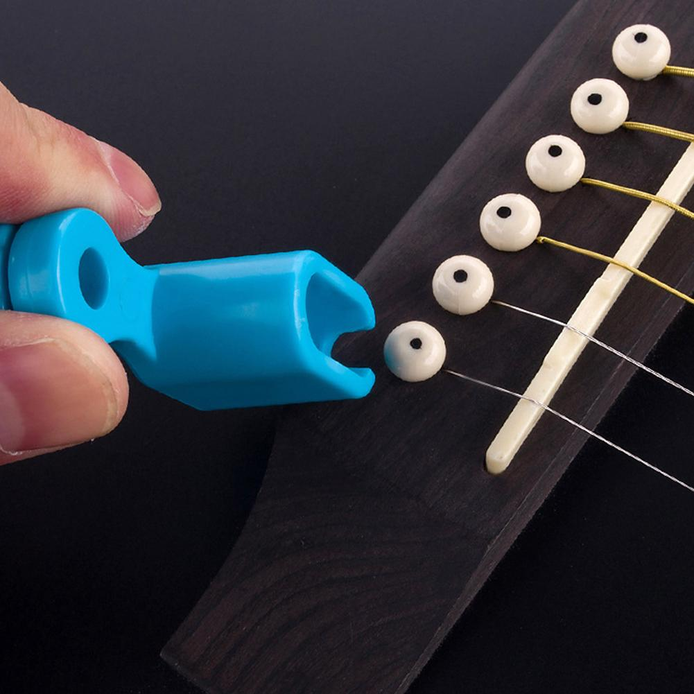 Plastic Guitar String Winder Speed Peg Puller Bridge Strings Tuner Changing Tool Random Color