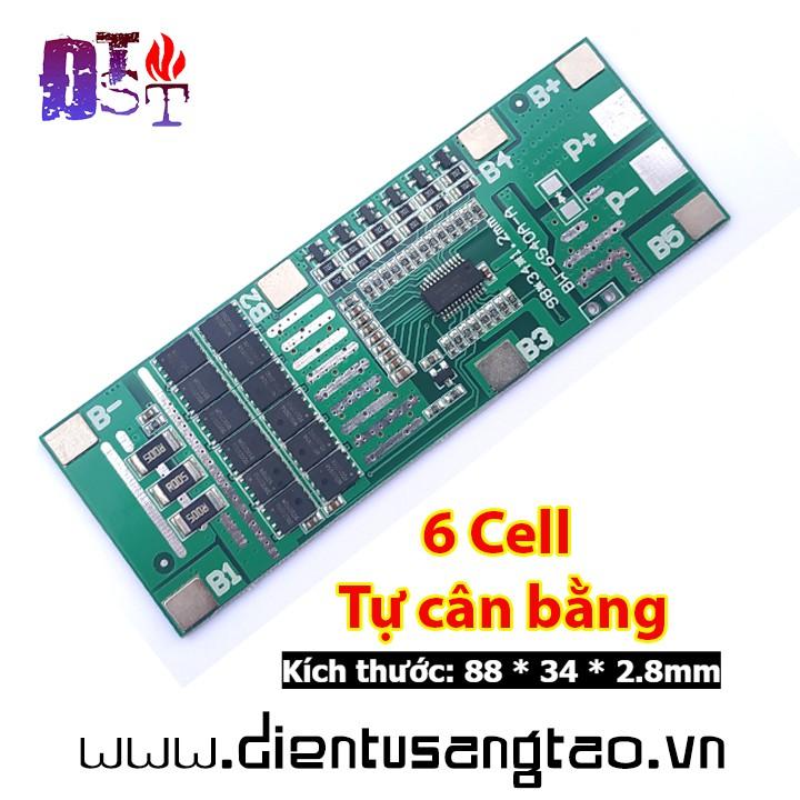 Mạch sạc xả bảo vệ pin lithium 6 cell 3,7V 40A Tự cân bằng