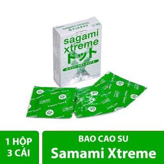 [Loại 1] - Bao cao su Cao Cấp SAGAMI Xtreme White Nhật Bản SIÊU MỎNG - Hộp 3 Cái (Bcs có gai gân tăng khoái cảm khi thumbnail