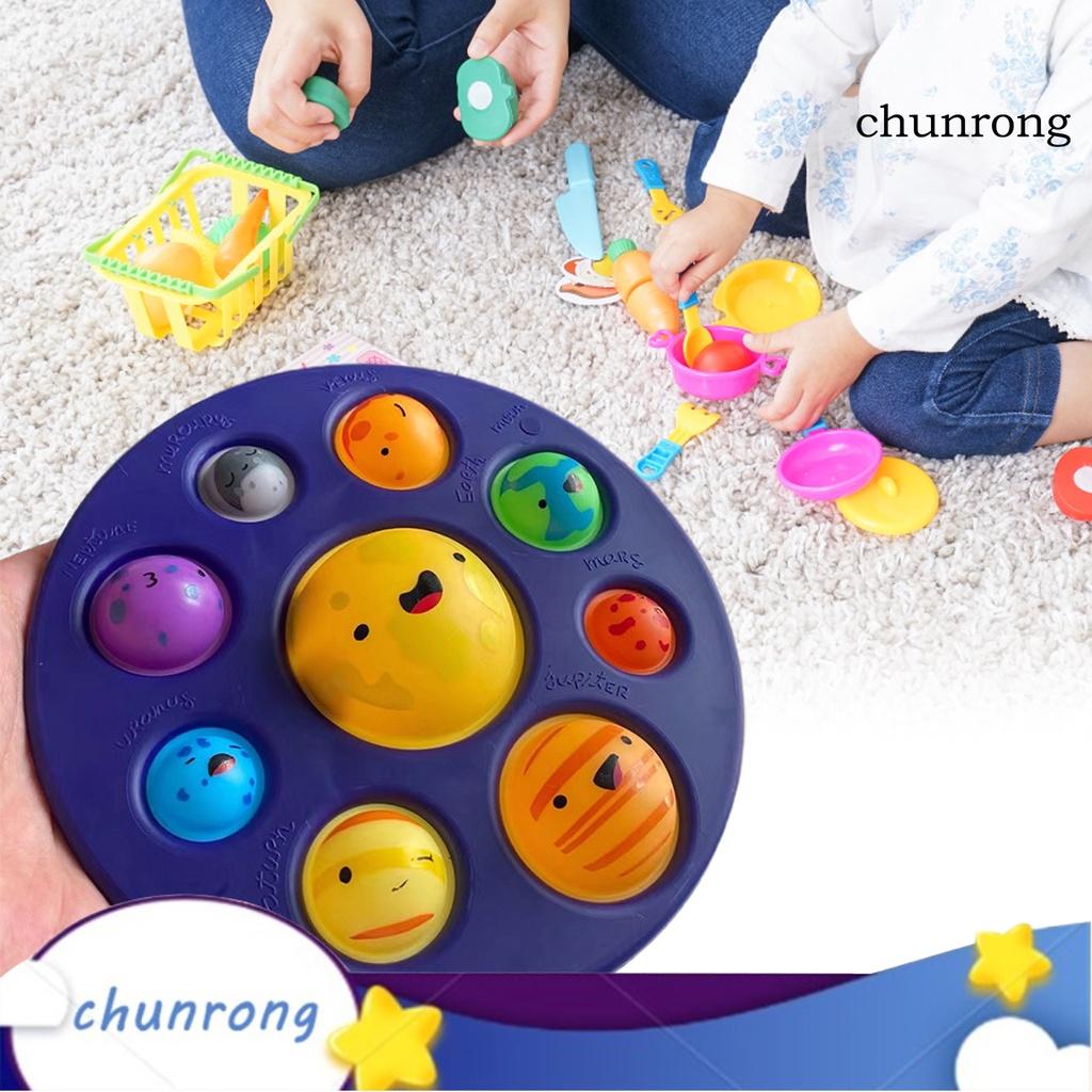 CR–Bubble Fidget Toy Delicate Craft Good Hand Feel Plastic Planets Push Bubble Sensory Fidget for Baby