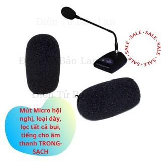 ( 2 cái ) Bông Lọc Micro Hội Nghị Cỗ Ngỗng, Mút Lọc Micro Hội Nghị Nhỏ
