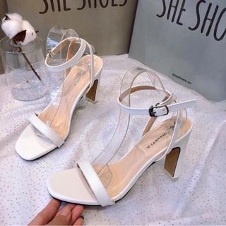 Sandal cao gót 7 cm gót dẹt new