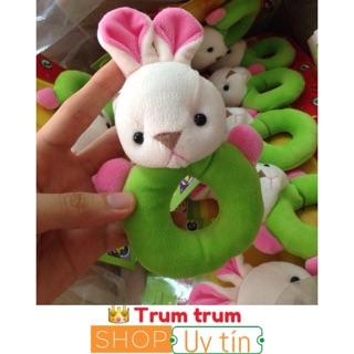FREESHIP 99K TOÀN QUỐC_Tập cầm nắm vòng tròn xúc xắc thỏ cho bé 0 tháng +