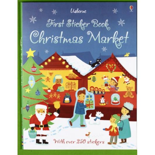 USBORNE STICKER BOOK - CHRISTMAS MARKET