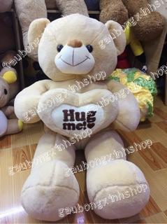 Gấu bông ôm tim Hugme khổ 1m2