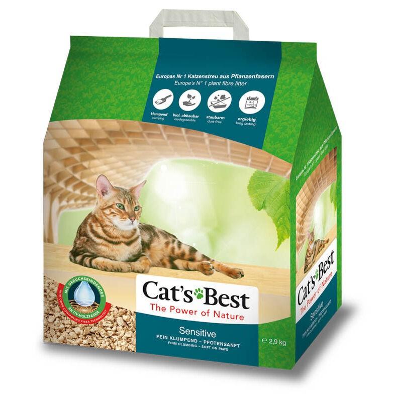 CAT'S BEST ทรายแมว เซนซิทีฟ สำหรับแมวแพ้ง่าย 8ลิตร (2.9 กก.)