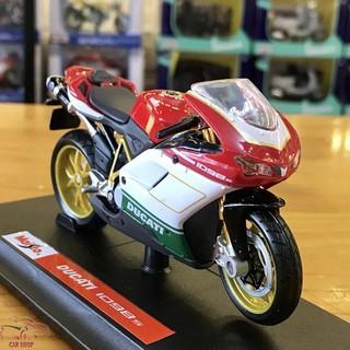 Mô hình xe mô tô Ducati 1098s tỉ lệ 1/18 hãng Maisto hàng Quảng Châu