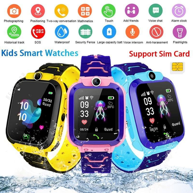 Đồng hồ thông minh trẻ em Q12 Vị trí chính xác Vị trí máy ảnh Theo dõi máy ảnh SOS / LBS Chống mất trẻ em Màn hình cảm ứng dành cho trẻ em SmartWatch
