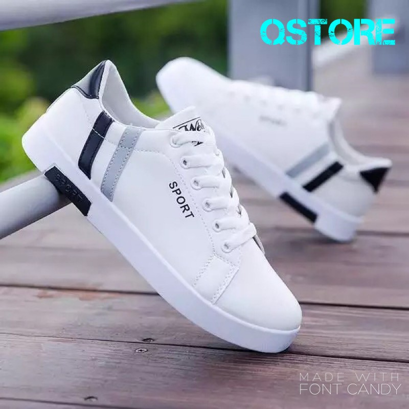 GIẢM GIÁ SỐC Giày da thể thao nam QSport phong cách trẻ trung năng động giày đi bộ giày chạy bộ giày tennis