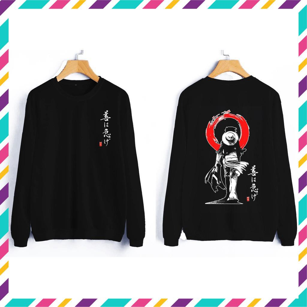 (SALE) [SIÊU RẺ] Áo sweater Luffy One Piece siêu ngầu giá rẻ