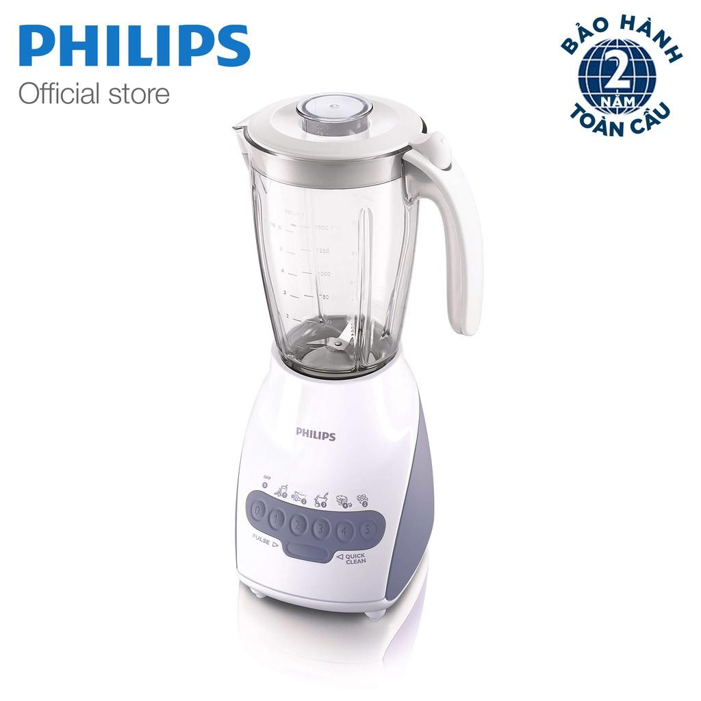 Máy xay sinh tố Philips HR2115 2L (Trắng)