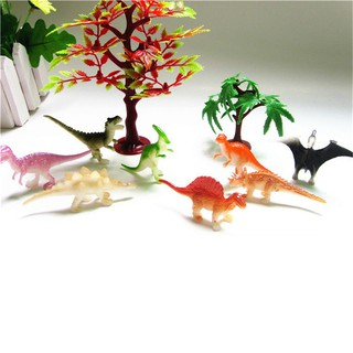 8pcs Dinosaurs Model Animals Gifts Boys Toys Kids Plastic Dinosaurs Figures Deco