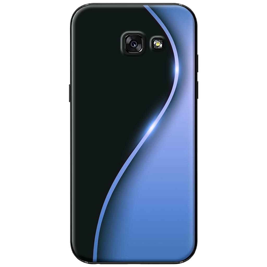 Ốp lưng Samsung A3/A5/A7 (2017) - nhựa dẻo Đường cong S màu xanh dương