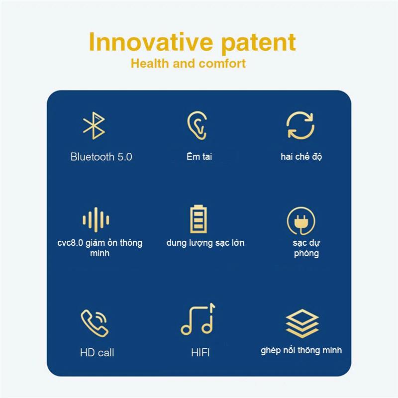 Tai Nghe Không Dây TWS Bluetooth 5.0 S19 Thể Thao Tai Nghe Stereo Mini Tai Nghe Nhét tai Với pin 2200 MAh