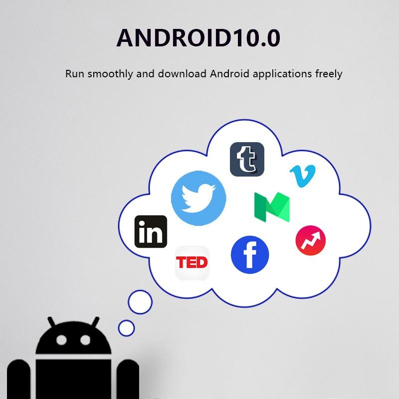 Tivi Box Ram 2GB bộ nhớ 16GB Android 10.0 xem video 4K thiết kế màu trắng bảo hành 12 tháng T95MINI android tv box