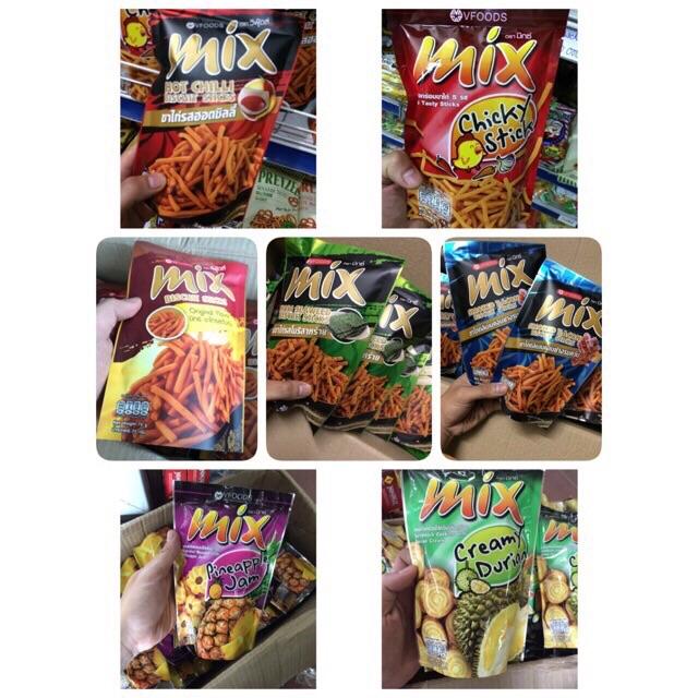 |Snack Tăm Thái |Snack Tăm Mix Vfoods 75g ( 7 vị)