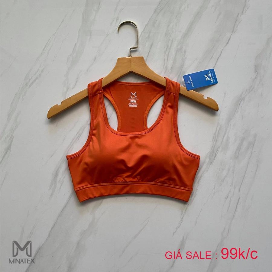 Mặc gì đẹp: Dẻo dai với Áo Tập Gym Yoga Xuất Khẩu Minatex, Áo bra tập gym nữ có mút ngực đi kèm