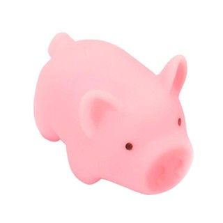 [Highples♕] Pink Cartoon Pig Toy Piggy Sounding Silicone Toy for Pressure Relieve Tri