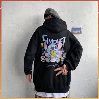 1hitshop Áo khoác hoodie Stitch nam nữ, áo khoác hoodie Stitch unisex màu đen
