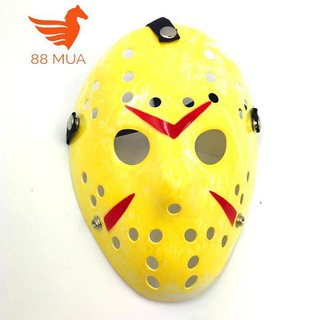 Mặt nạ Jason hóa trang Halloween leegoal Màu Vàng Đậm Lỗ tròn-e99 rẻ như cho